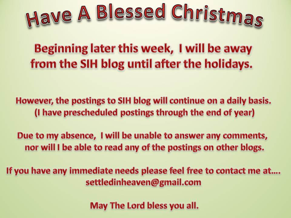 Christmas Vacation Notice 2012 « Settled In Heaven Blog