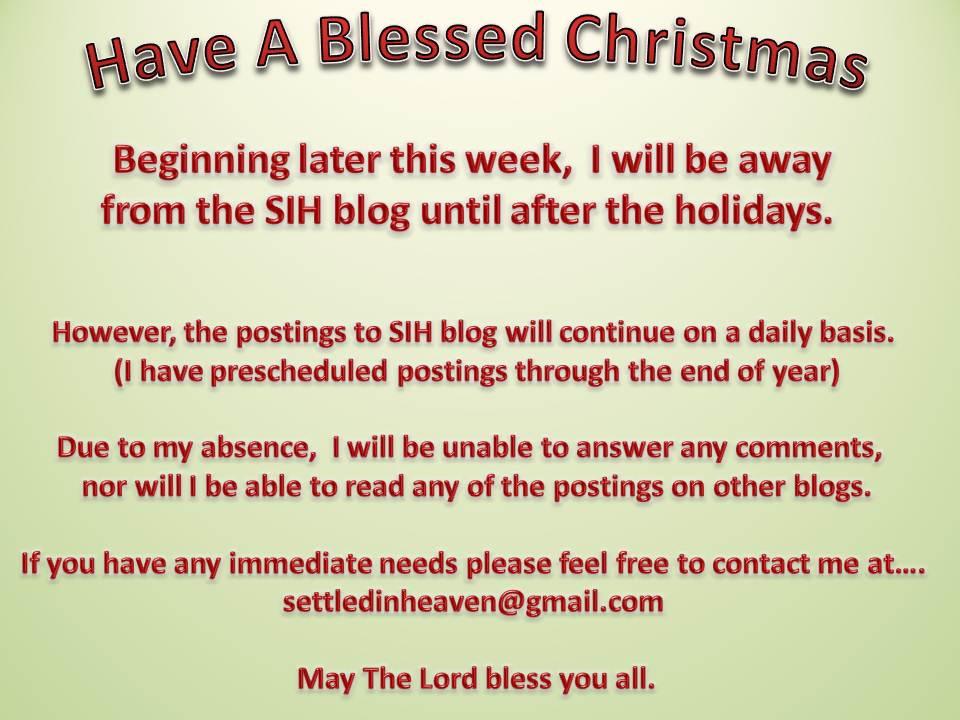 Christmas Vacation Notice 2012